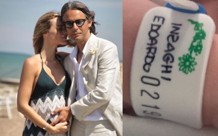 Pippo Inzaghi diventa papà a 48 anni: è nato il piccolo Edoardo. La tenera foto su Instagram