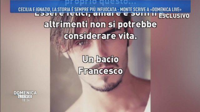 Domenica Live, la lettera di Francesco Monte a Barbara D?Urso
