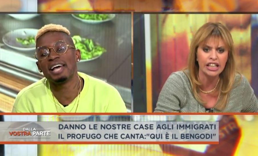 Alessandra Mussolini contro il rapper di origini ghanesi: