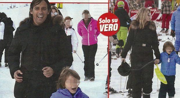 Simone Inzaghi e Gaia Lucariello, relax a Courmayeur col piccolo Lorenzo