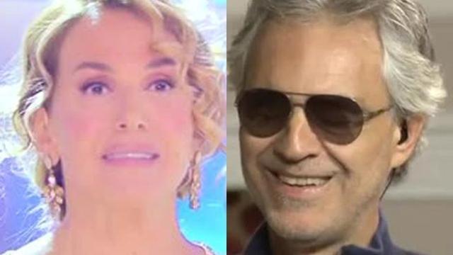 """Barbara D'Urso, gaffe con Bocelli a Domenica Live: """"Vedrai con i tuoi occhi..."""""""