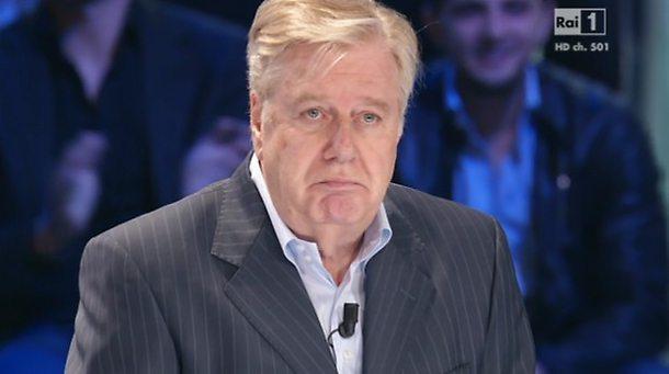 """Claudio Lippi salta a """"Domenica In""""? Gesto dell'ombrello in trasmissione"""