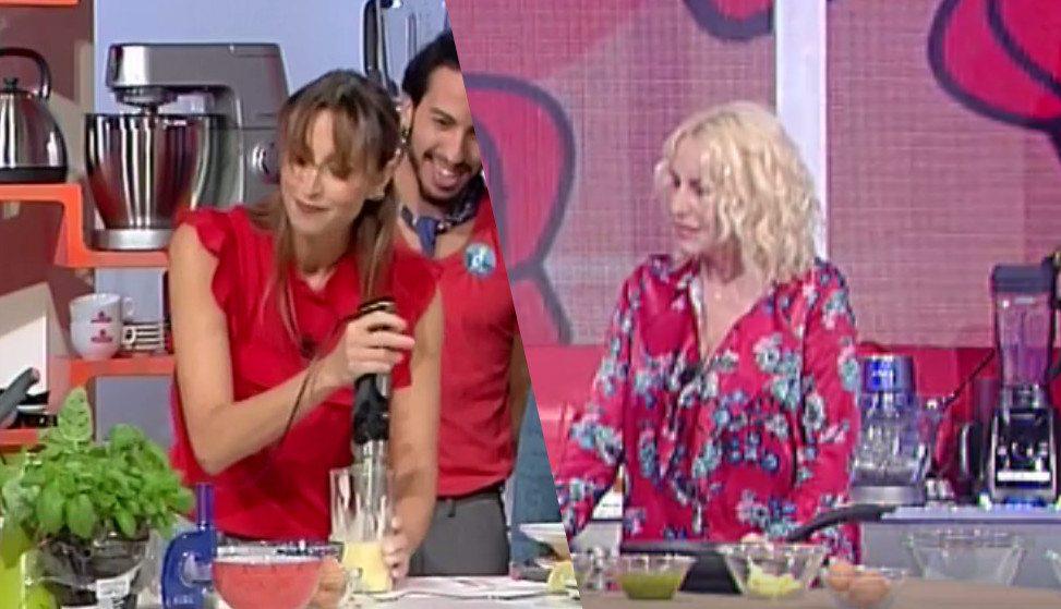 Benedetta Parodi a Domenica In sbaglia ricetta. E Antonella Clerici...