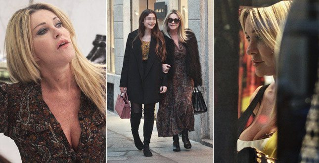 Paola Ferrari, shopping con la figlia Virginia e… incidente se. xy!