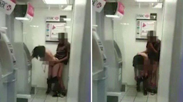 """Se. sso allo sportello del bancomat, il video finisce su twitter: """"Ecco chi sono"""""""