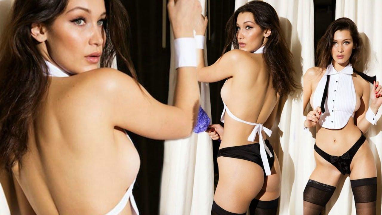 Bella Hadid inginocchiata in slip trasparente: i fan su Instagram vanno in tilt