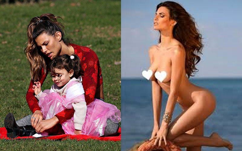 Dayane Mello, se. xy stretching al parco interrotto dalla figlia