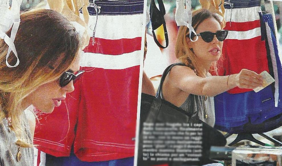 Ilary Blasi a sorpresa, shopping low cost al mercatino dopo la maratona in tv