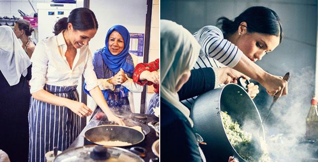 Meghan Markle ai fornelli, eccola mentre cucina