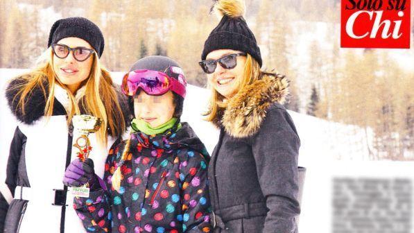 Ilary Blasi, vacanze sulle neve con i figli
