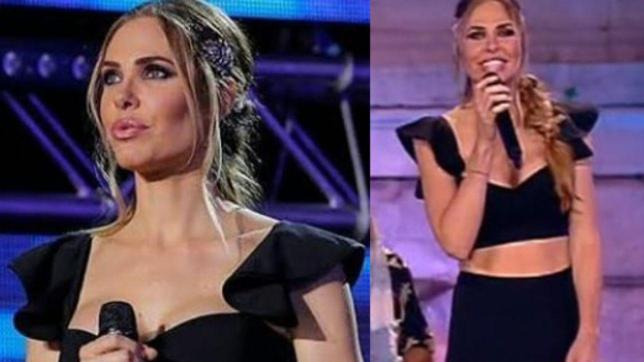WSF: Ilary Blasi in nero come una dea