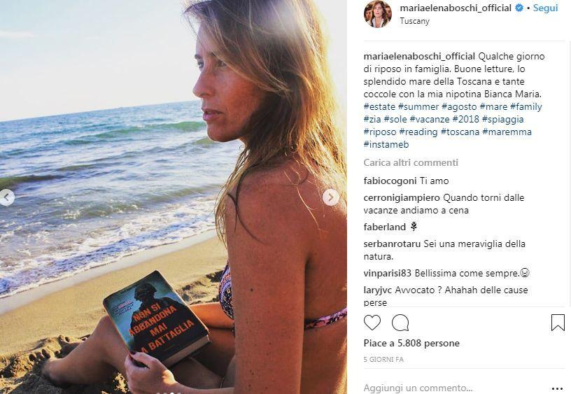 Maria Elena Boschi, tenera zia in spiaggia: sorrisi e relax con la nipotina in Maremma