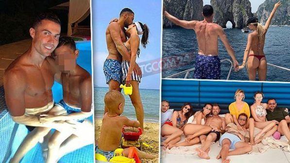 Calciatori in vacanza: da Ronaldo a Icardi, guarda chi prende il largo