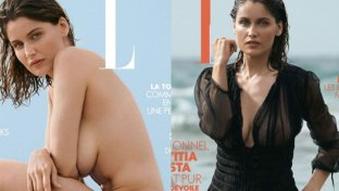 Nuda o vestita? Due cover per Laetitia Casta