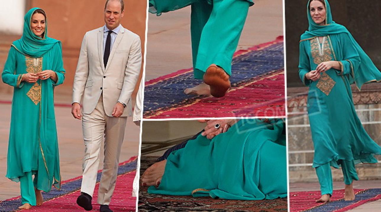 Ai piedi di Kate Middleton: guarda la duchessa scalza