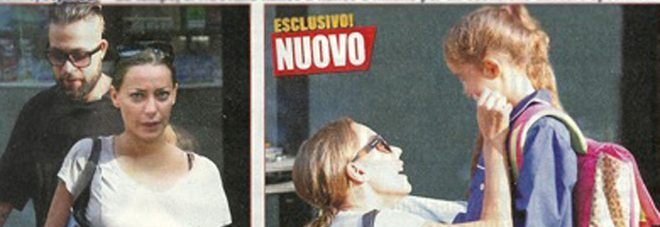 Karina Cascella e Salvatore Angelucci di nuovo insieme: a scuola per accompagnare Ginevra
