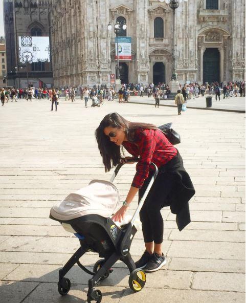 Federica Nargi, prima passeggiata con Sofia