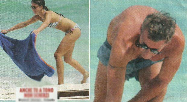 """Roberto Farnesi, vacanze h0t a Malindi con la fidanzata Lucya: """"23 anni di differenza"""""""