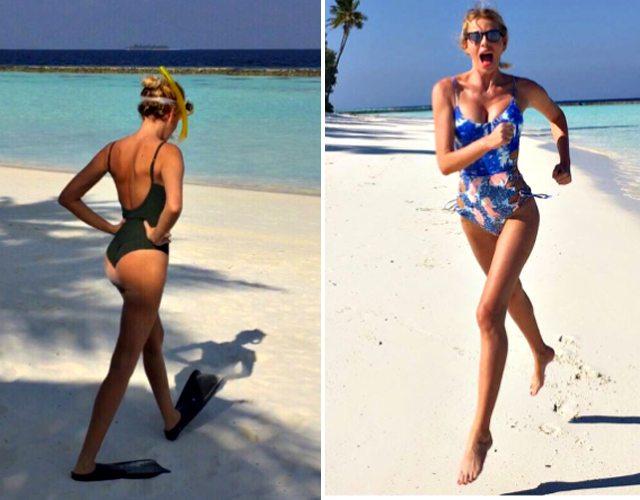 Alessia Marcuzzi, vacanze in bikini: alle Maldive col marito Paolo Calabresi