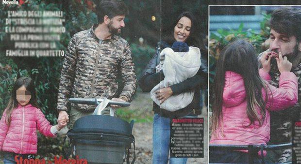 Edoardo Stoppa e Juliana Moreira, prima passeggiata con Gabriel