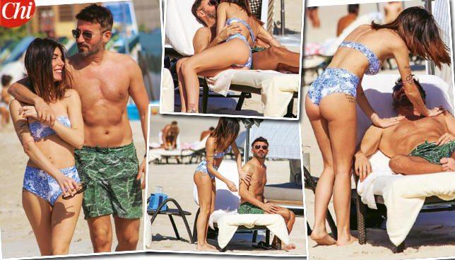 Max Biaggi e Bianca Atzei, acrobazie d?amore a Dubai