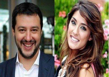 Matteo Salvini bacia Elisa Isoardi… a pesce palla!