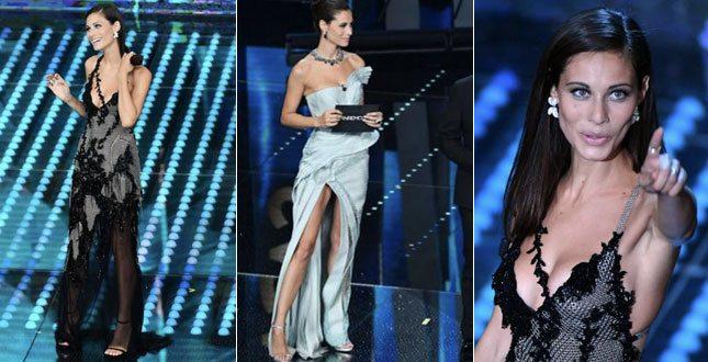 Marica Pellegrinelli incanta l'Ariston: la moglie di Eros Ramazzotti è uno schianto