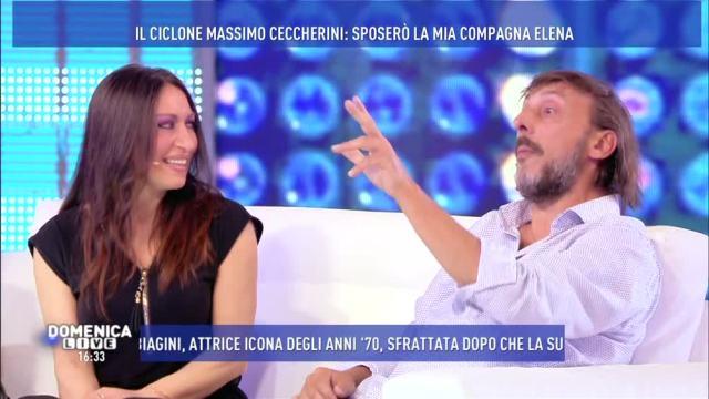 """Domenica Live, Massimo Ceccherini: """"Sono molto innamorato di mia Elena e la sposerò"""""""