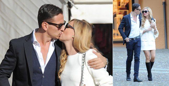 Federica Panicucci, baci col fidanzato Marco e poi vita da mamma