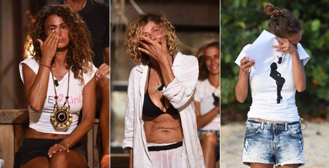 Samantha De Grenet, Eva Grimaldi e Malena la Pugliese in lacrime: all'Isola dei Famosi piangono tutte