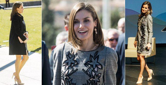 8c3e4f2d9b60 Letizia Ortiz scivola sul look  l abito è un po  troppo corto per ...