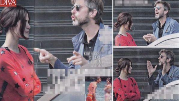 Kim Rossi Stuart, va in scena la lite: scintille in strada con Ilaria