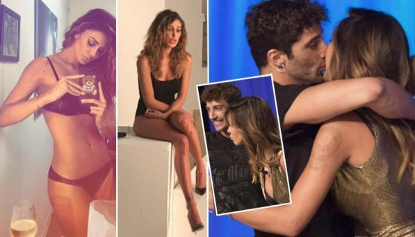 Belen, shooting in biancheria intima con Iannone e family