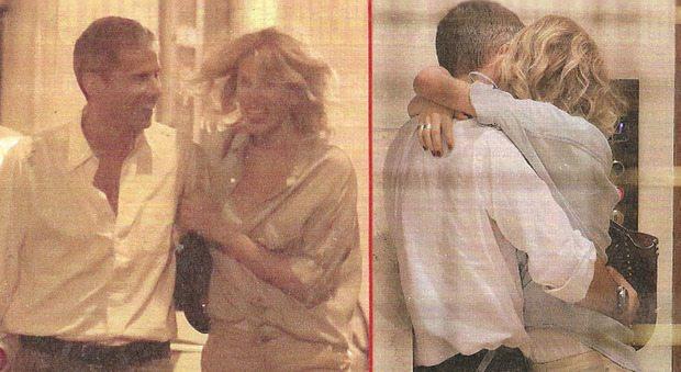Alessia Marcuzzi e il marito, baci hot dopo la cena con gli amici
