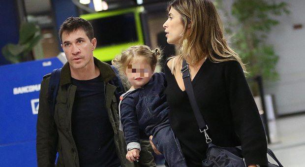 Elisabetta Canalis, ritorno a casa con Brian Perri e la piccola Skyler Eva