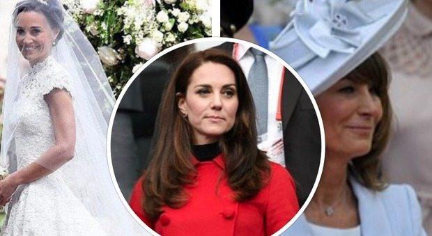 Kate Middleton, è guerra con Pippa e mamma Carole. Ecco perché