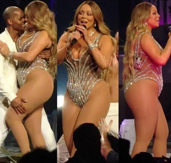 Mariah Carey mostra sul palco le sue forme curvy