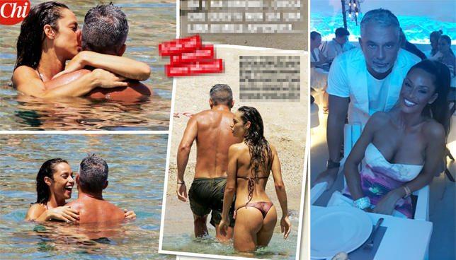 Raffaella Fico e Moggi, fisicati e innamorati a Mykonos