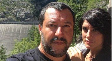 Salvini e Isoardi, innamorati a Cortina: il selfie dalla diga del Vajont