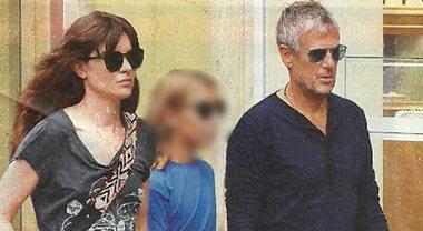 Vittoria Puccini, relax nella Capitale col fidanzato Fabrizio Lucci e la figlia Elena