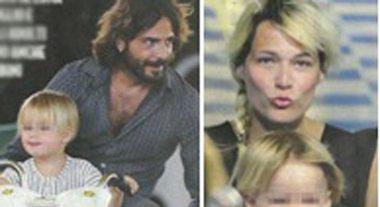 Marco Bocci e Laura Chiatti, scatenati sull'autoscontro con Enea e Pablo