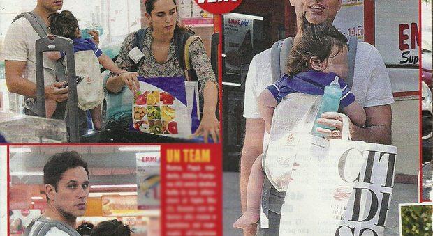 Attilio Fontana e Clizia Fornasier genitori, shopping con Blu nel marsupio