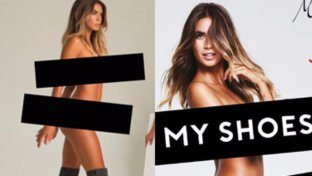Melissa Satta per Bata: nuda, ma non scalza