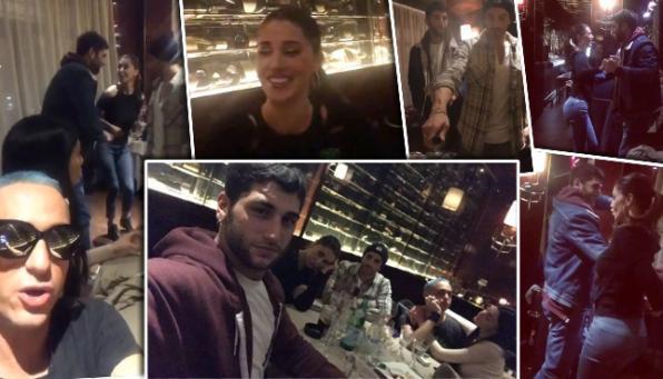 Belen al ristorante con Andrea, ma balla con Jeremias tra i tavoli