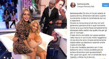 Karina Cascella e le critiche per il post con la maggiorata Allegra Cole: