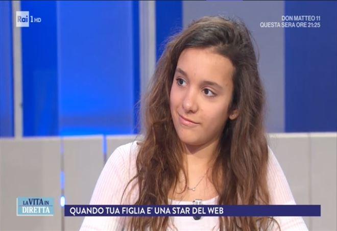 Iris Ferrari a La Vita in Diretta: