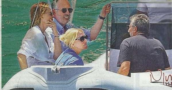Antonella Clerici, weekend nella reggia a Portofino con Paola Perego e Lucio Presta