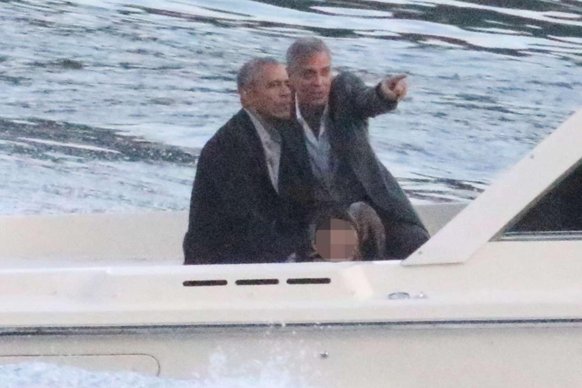 Obama e Clooney, cena a Villa d?Este e fuga in motoscafo