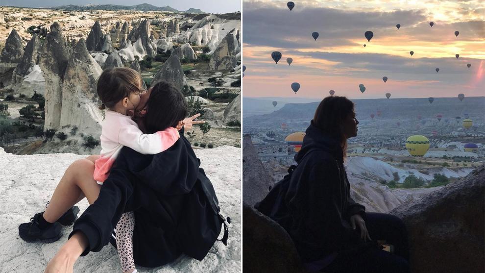 Francesca Fioretti e la figlia Vittoria Astori in Turchia: «Per sempre»