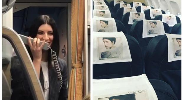 Laura Pausini come il Papa: prenota un intero aereo per presentare il nuovo disco